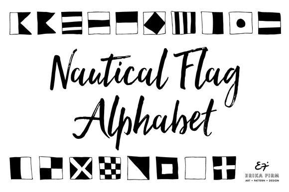 Nautical Flag Alphabet by ErikaFirm on @creativemarket