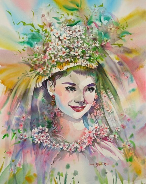 Картинки девушка весна нарисованные, днем рождения