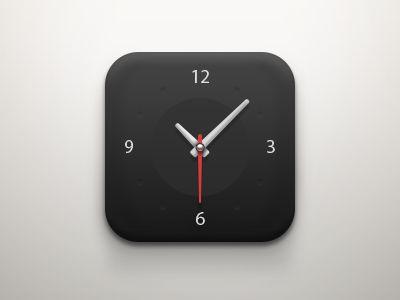 Clock iOS Icon (Dark) by Ilja Miskov