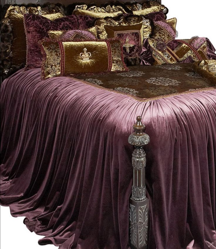 Old world tuscan style high end luxury bedding by reilly for Old world style beds