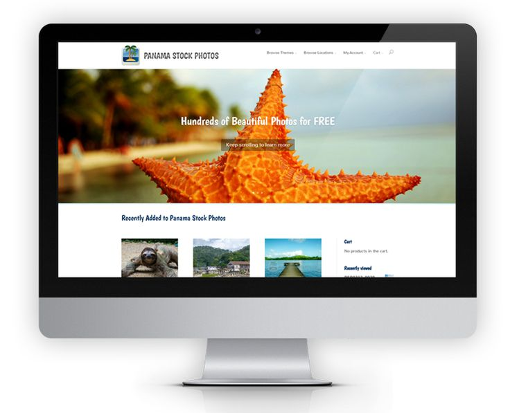 PanamaStockPhotos.com is an extensive e-commerce website with shopping cart, checkout and PayPal payment integration.  Photos are categorized by sku number, theme and location.  Users are able to view the photo, add to a shopping cart, make a payment and download the photos right away.