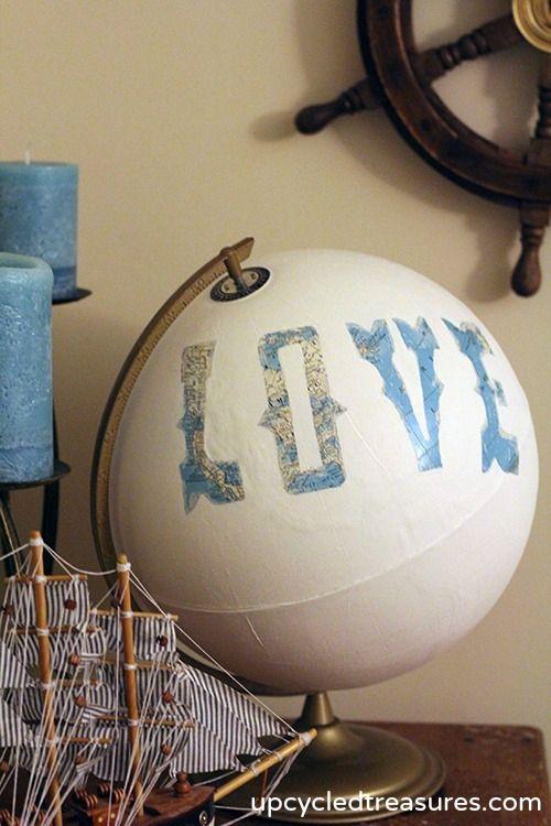 Painted Globe Guestbook... Super Cute @Bethany Shoda Leech