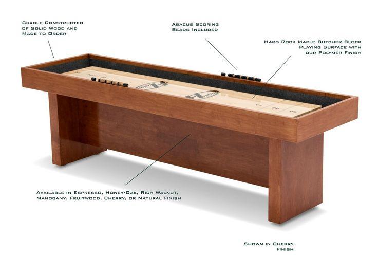 22 Foot Berkley Shuffleboard Table   Shuffleboard.net