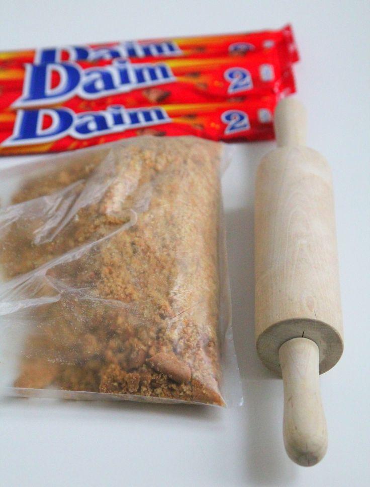 Daim-cheesecake