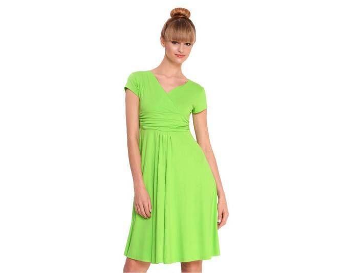 Damen Kleid Dress Wickelkleid Cocktailkleid Abendkleid V-Ausschnitt ...