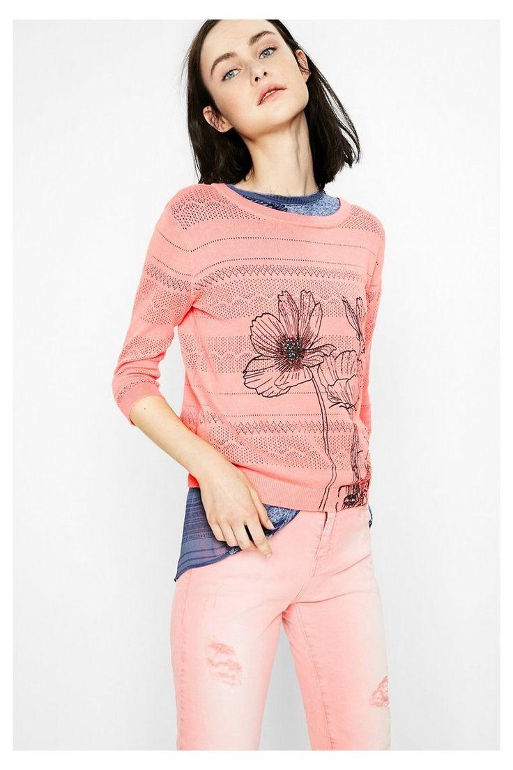 Jersey rosa para mujer - Niza | Desigual.com 3112