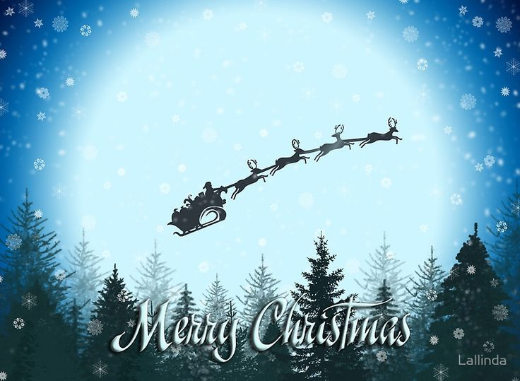 Santa Is Coming Christmas Greeting Card