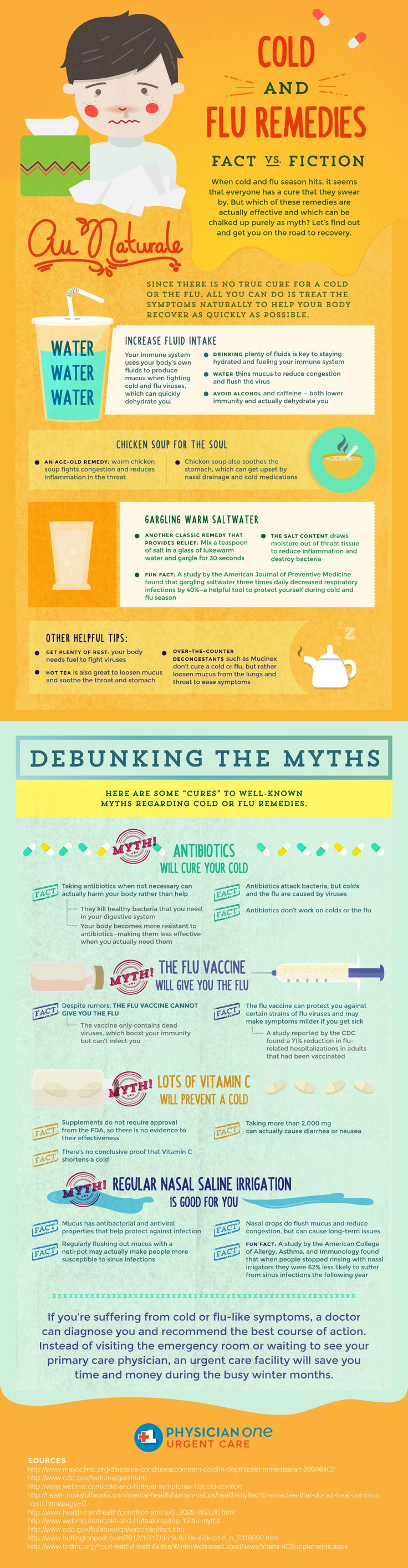 Cold and Flu Remedies: Fact vs Fiction