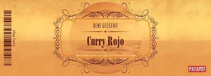 Un juego de etiquetas para especiero inspirado en Dune, de Frank Herbert, con el nombre Bene Gesserit.
