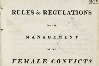 Parramatta Female Factory Rules and Regulations booklet. N.S.W. Australia