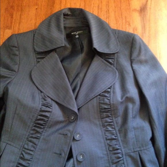 Nine West Navy Blue Pinstripe Suit Worn only a few times. Perfect suit for work. Nine West Dresses
