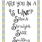 FREE download! Is your line a 4S line? Silent, Straight, Still, Smiling