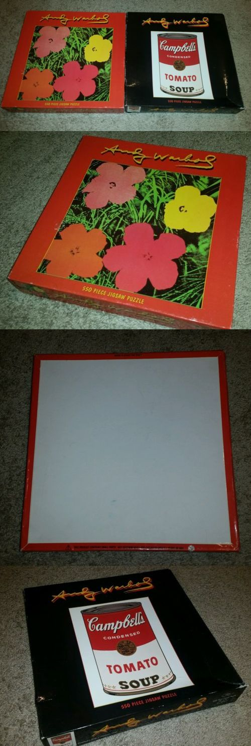 Jigsaw 19189: Lot Of 2 Vtg Jigsaw Puzzle Andy Warhol Flowers Tomato Soup 550 Piece Sealed -> BUY IT NOW ONLY: $34.99 on eBay!