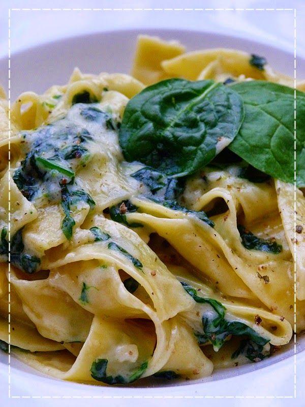 Kouzlo mého domova: Pappardelle mascarpone e spinaci