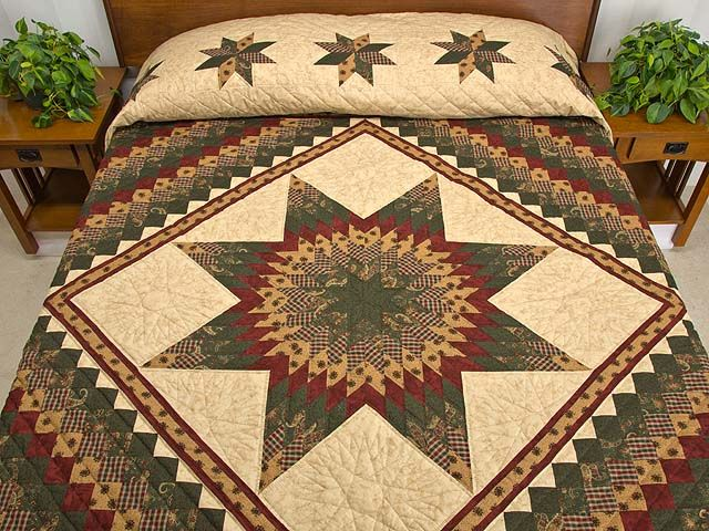 Lone Star Trip Around the World Quilt -- wonderful ably made Amish Quilts from Lancaster (hs5625)