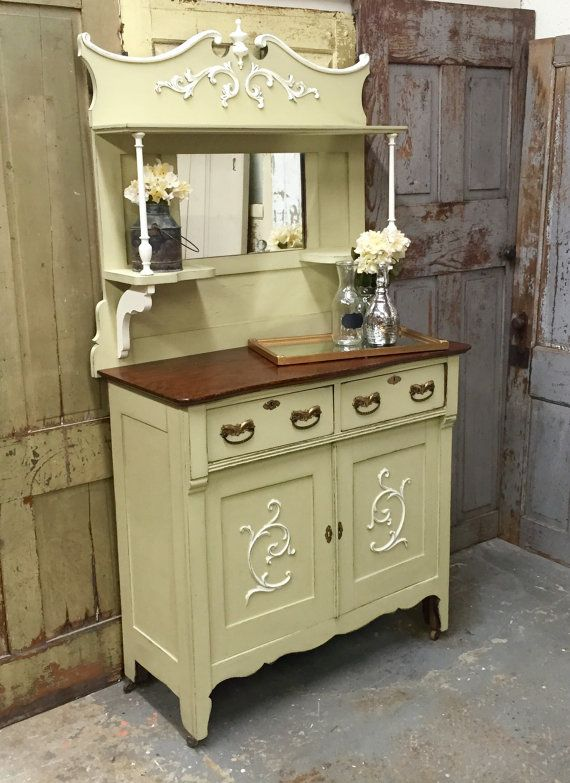 Antique Buffet Table Small Sideboard Kitchen Sideboard