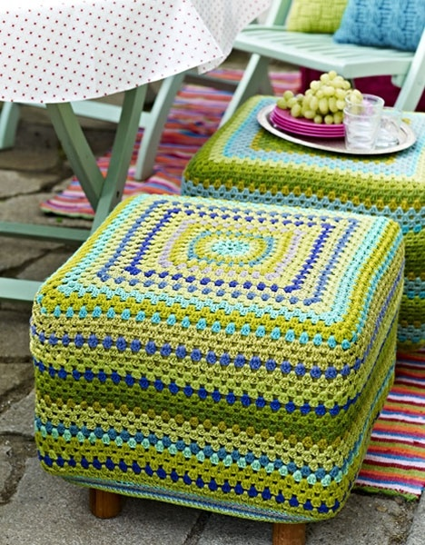 Crocheted Slip Covers. Love these!!