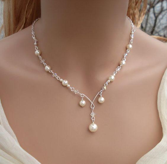 Elegant Bridal Jewelry Set Wired Crystal by SunVDesigns on Etsy, $72.97 #EtsyMarketplace: