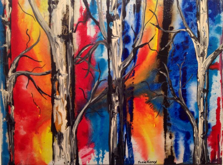 Suzie Hiscox has been doing some incredible things with ink, here we see 'Forest Fire'