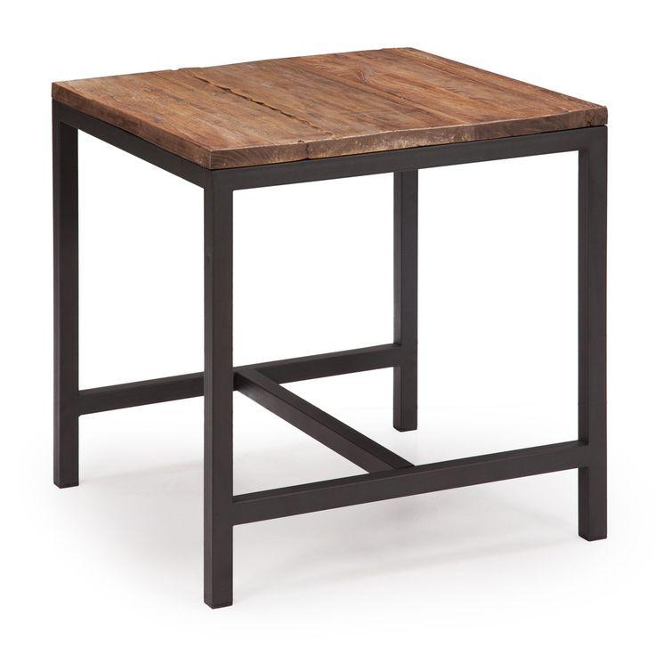Distressed Natural Wood Coffee Table: 1000+ Ideas About Metal Side Table On Pinterest