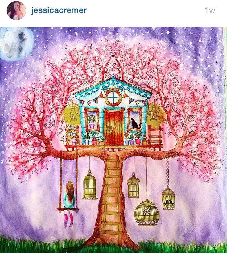 Inspirationalcoloringpages Coloringbooks Livrosdecolorir Jardimsecreto ColouringColoring BooksSecret GardensJohanna