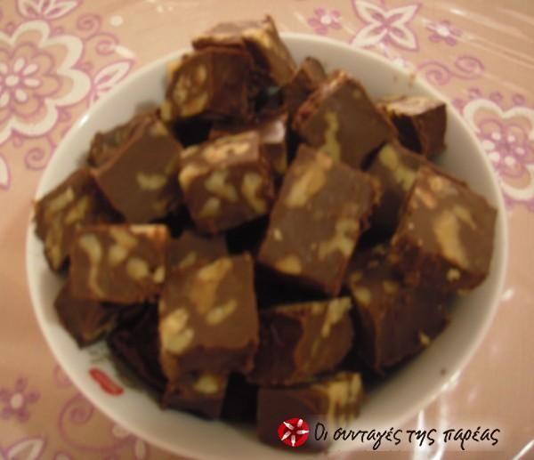 Σπιτικά τετράγωνα σοκολατάκια #sintagespareas