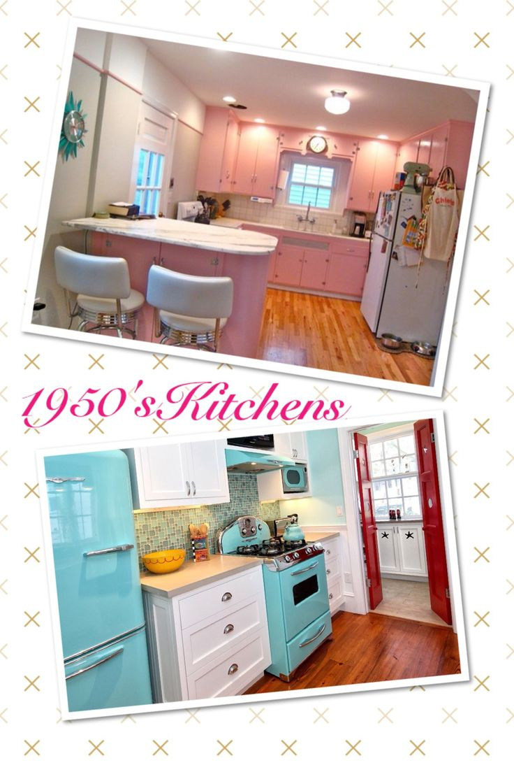 1950u0027s Pink Kitchen, Aqua Appliances