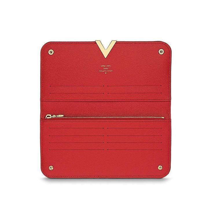 Коричневый с красным кошелек LOUIS VUITTON Kimono Wallet