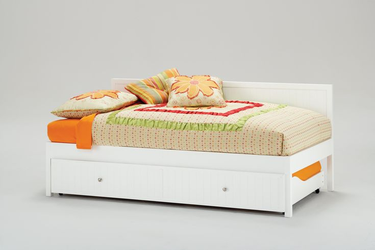 Modern Bed Ideas With Pop Up Trundle Bed White Wooden