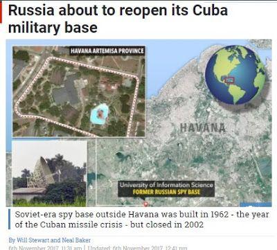 Αναβιώνουν όλοι οι δαίμονες του Ψυχρού Πολέμου: Ο Πούτιν σκέφτεται την ενεργοποίηση της Σοβιετικής βάσης στην Κούβα
