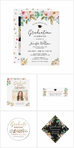 graduation announcements and party invitations modern creative