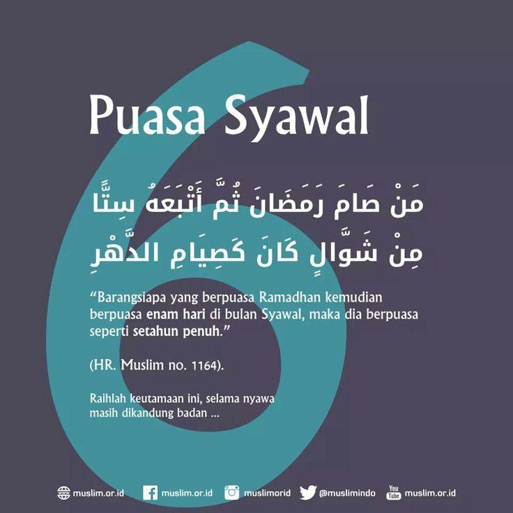 Puasa Ramadhan + Puasa Syawal = Puasa 1 Tahun