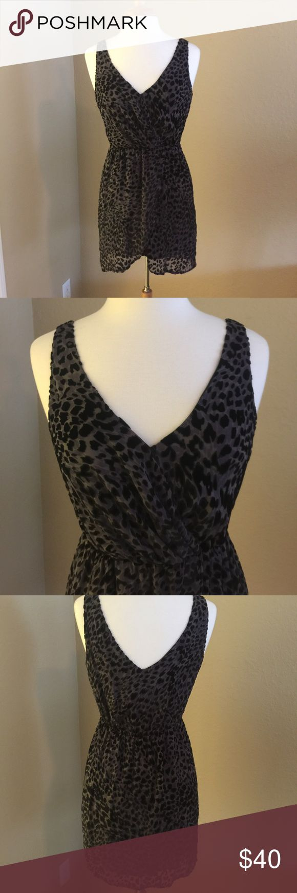 Cocktail dress Gorgeous and Sexyyyy!  Rory Beca animal print  cocktail/special occasion dress . Lightweight burnout velvet and chiffon fabric, elastic waist, faux wrap style. Excellent condition! Nonsmoking **** Rory Beca Dresses Mini