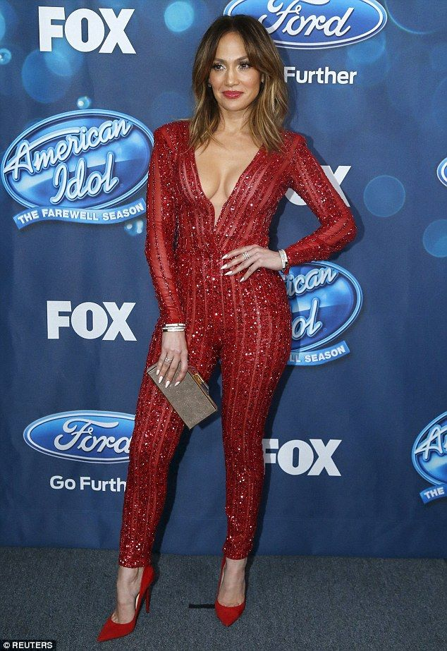 Red hot: Jennifer Lopez, pictured at the American Idol party in Los Angeles on Thursday, has reflected on her former marriages and relationships