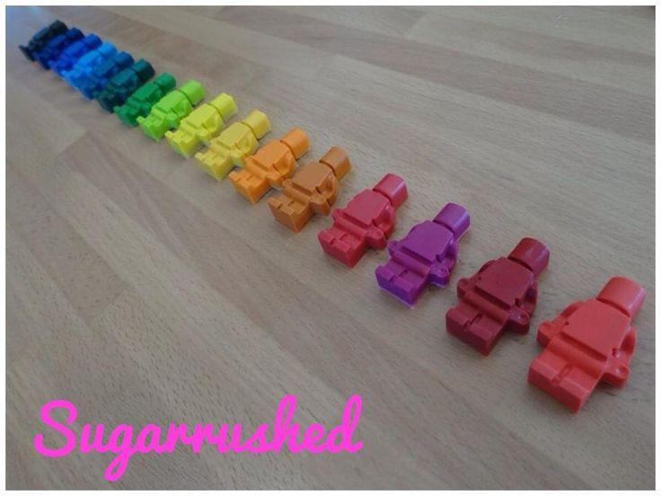Lego Party! How to make Lego Crayons, chocolates and cake. #Legomovie http://ashliesugarrushed.blogspot.co.uk/2014/10/lego-party-5thbirthday-legomovie.html
