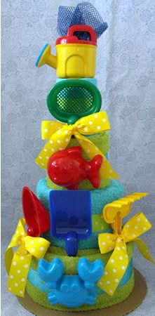 A Day at the Beach Towel Cake.
