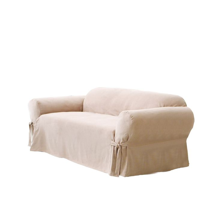 Sure Fit Soft Suede Sofa Slipcover -