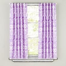 Kids Curtains: Purple Animal Print Curtain Panels in Curtains & Hardwares | The Land of Nod