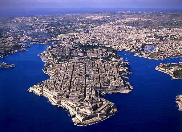 Aerial view of Valletta, one of Malta's main cities