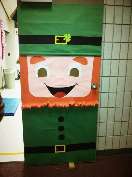 Classroom Decoration Ideas Easy ~ Saint patricks day door for classroom super easy