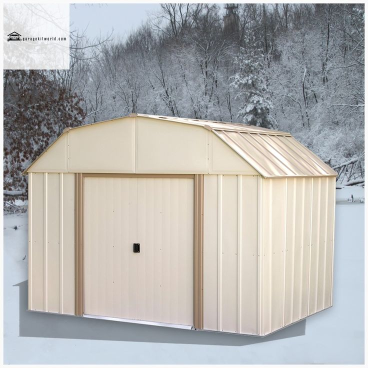 Lexington 10 x 8 ft. Taupe/Eggshell Barn Style Steel