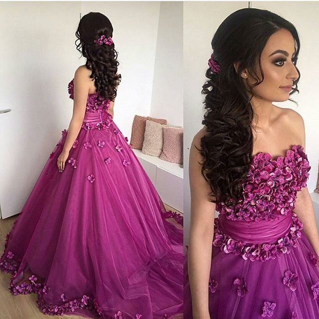 Flowered Prom Dress From China