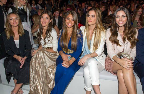 Romarey Ventura Nuria Cunillera Antonella Rocuzzo Elena Galera and Melisa Jimenez are seen on the front row of the Rosa Clara Show during Barcelona...