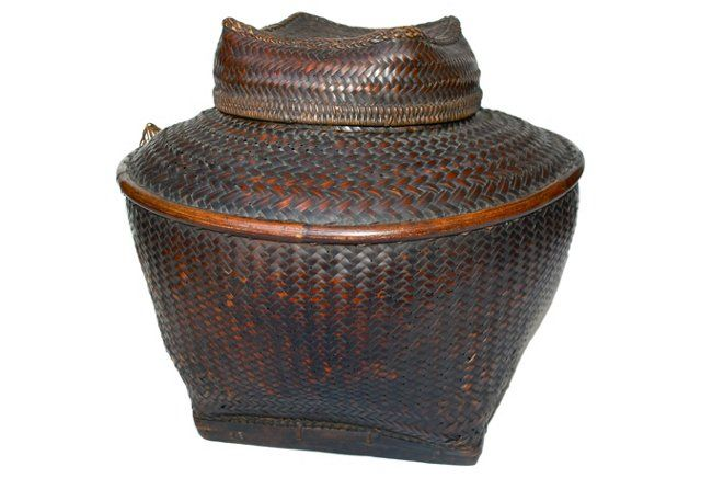 Basket Weaving Of Ifugao : Antique philippine ifugao storage basket one kings lane
