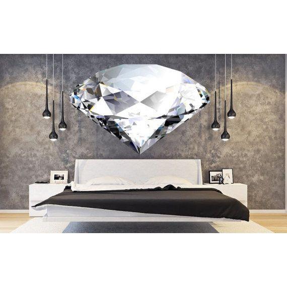 Full Color Diamond Full Color Decal, Diamond Full color sticker, Diamond wall art Sticker Decal size 22x30