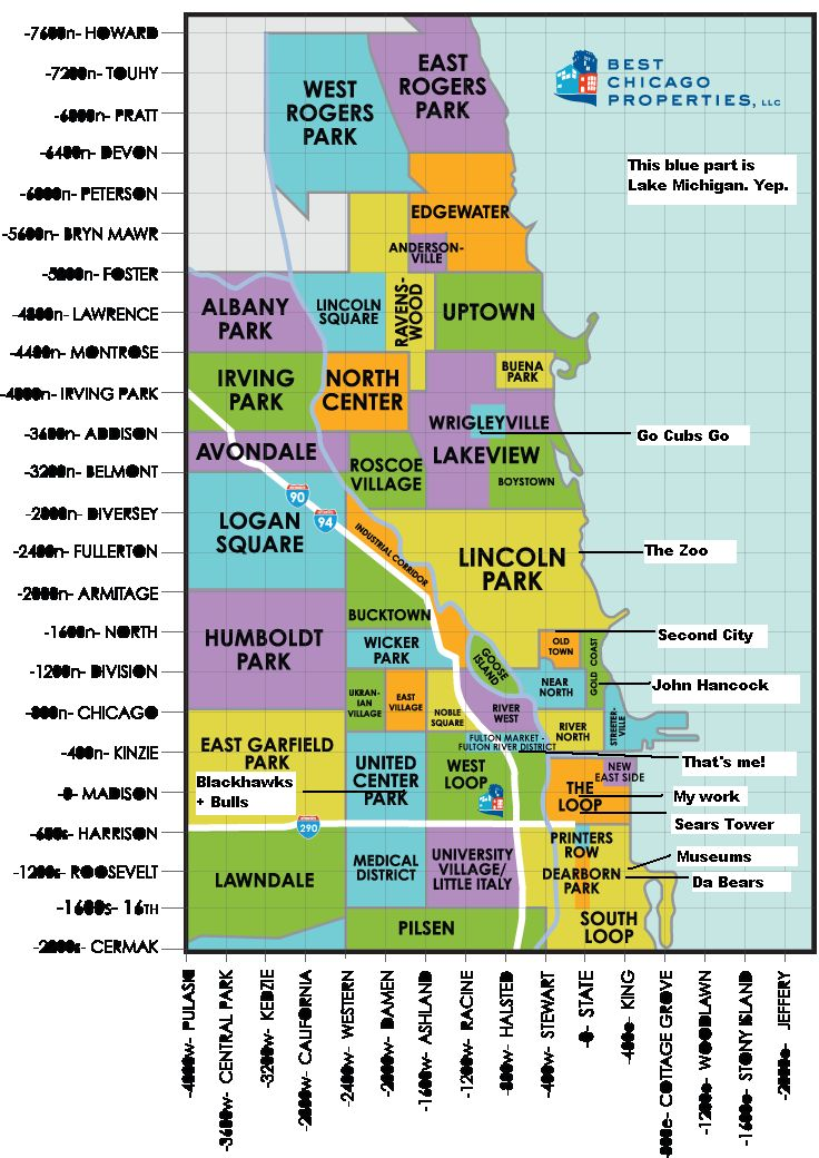 A Helpful Chicago Map Chicago neighborhoods, Chicago map