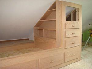 Built in bed in attic