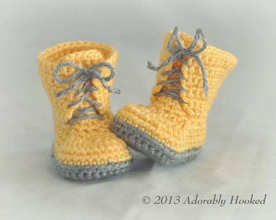 Baby Combat Boots Crochet Combat Boots Military by AdorablyHooked, $26.00