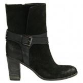 Korte zwarte laarzen met gesp