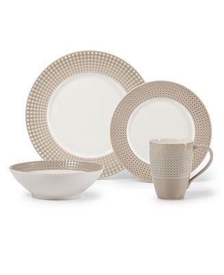 mikasa dinnerware crisscross tan collection casual dinnerware dining u0026 macyu0027s